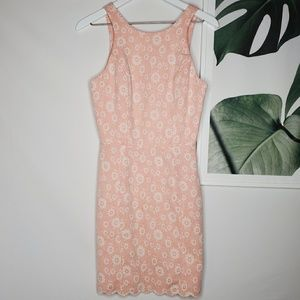 Dolce Vita Pink Floral Dress Cutout Back Scalloped